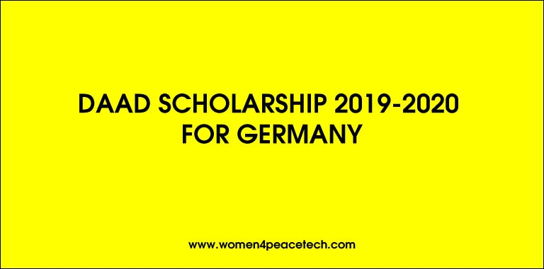 Daad Scholarship 2019-2020 for Germany